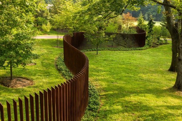 Gartenzäune aus Holz ideen grün
