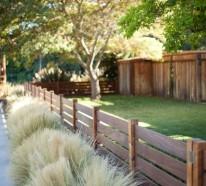 Gartenzäune aus Holz – alte Europaletten wiederverwenden