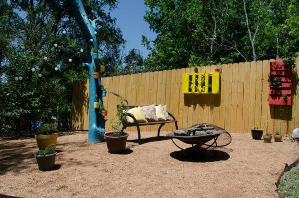 Gartenzäune erholungsecke Holz ideen sommer