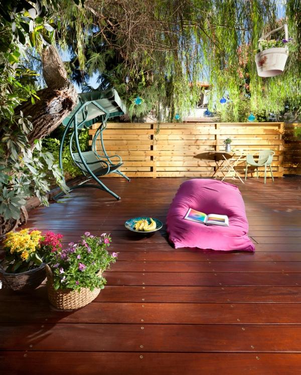 Gartenzäune aus Holz ideen stabil