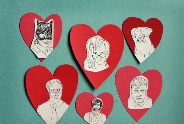 Geschenke zum Valentinstag basteln herzen pappe