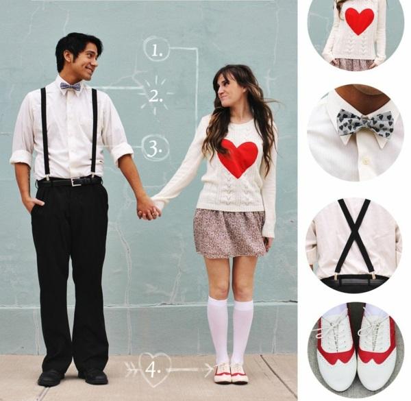 Geschenke zum Valentinstag basteln kleidung accessoires