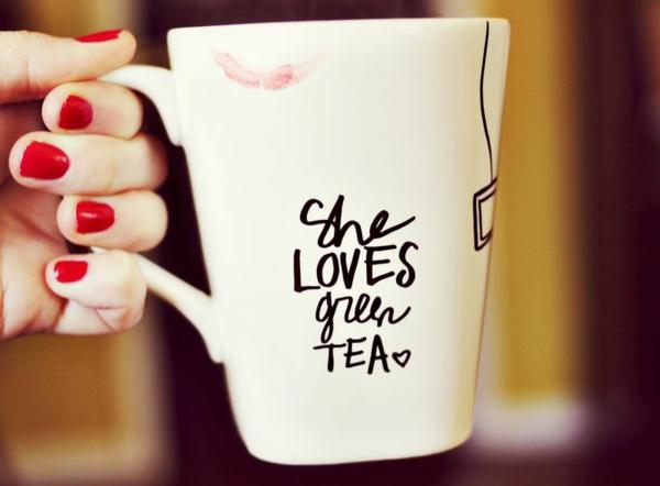 Geschenke zum Valentinstag basteln teetasse