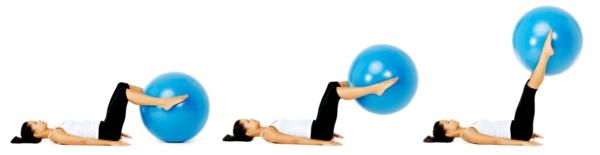 Gymnastikball Übungen trainieren und abnehmen