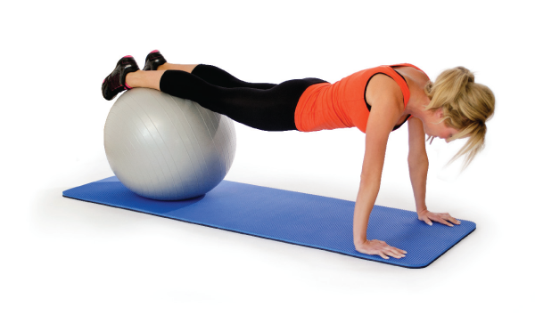 Gymnastikball Übungen zu hause machen