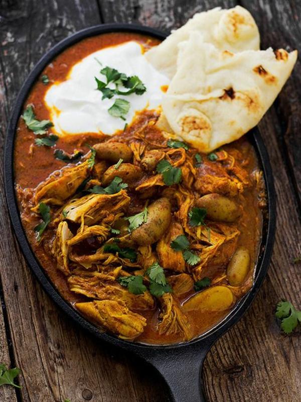 Indisch kochen indisches Essen brot joghurt
