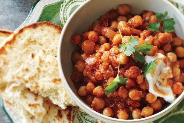 Indisch kochen indisches Essen chana masala