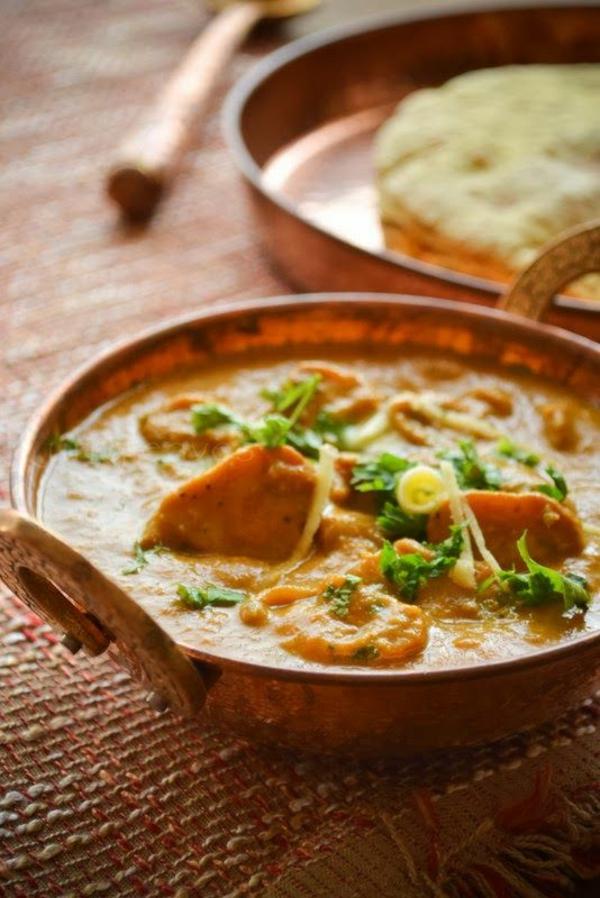 Indisch kochen indisches Essen pilzen butter masala
