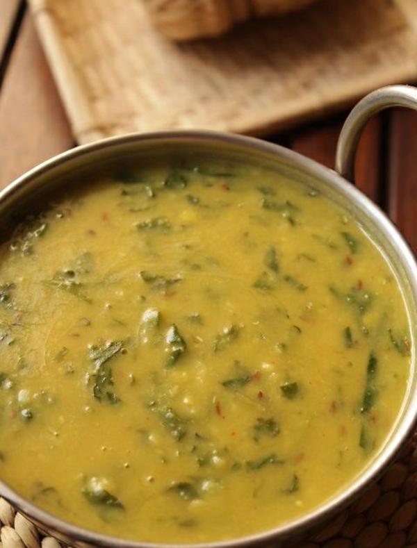 Indisch kochen indisches Essen vegetarisch spinat palak dal