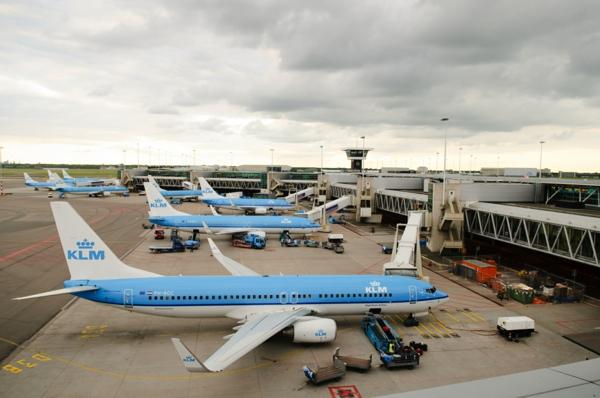 KLM FLugzeug übernachten landen