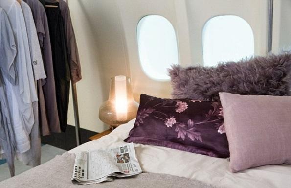 KLM FLugzeug übernachten ruhe