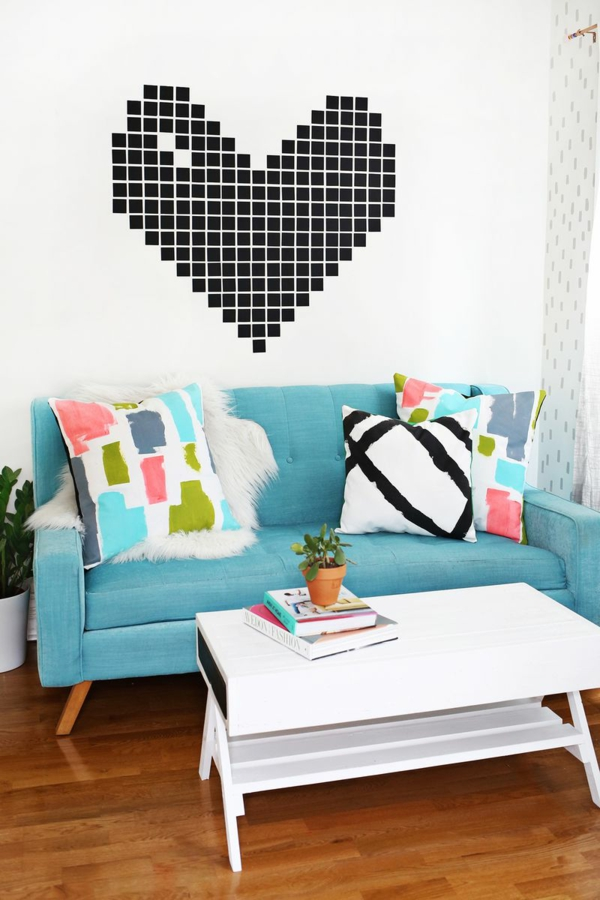 kissen selbst gestalten kissenbez ge dekorieren. Black Bedroom Furniture Sets. Home Design Ideas
