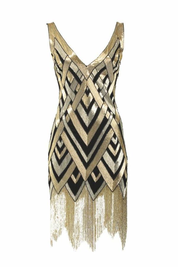 Kleid in Silber abendkleid metall effekt gold schwarz