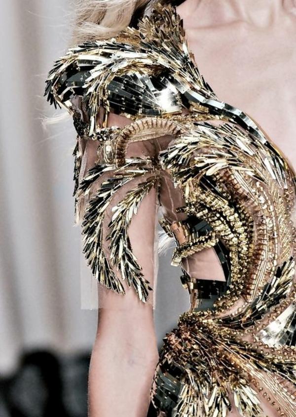Kleid in Silber gold schein