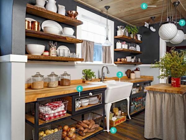 Kleine design Küche einrichten kompakt