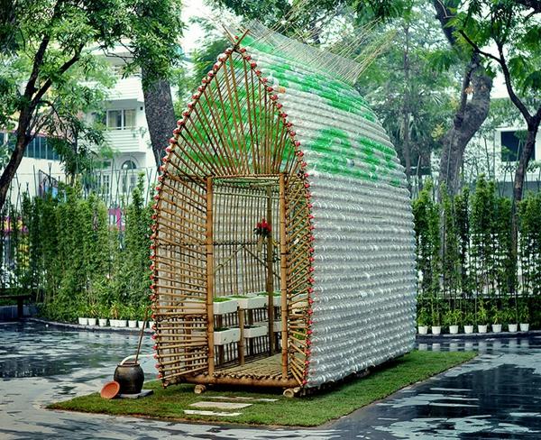 Kleines Gewächshaus selber bauen exotisch