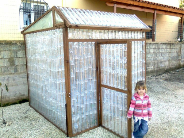 Kleines Gewächshaus selber bauen idee
