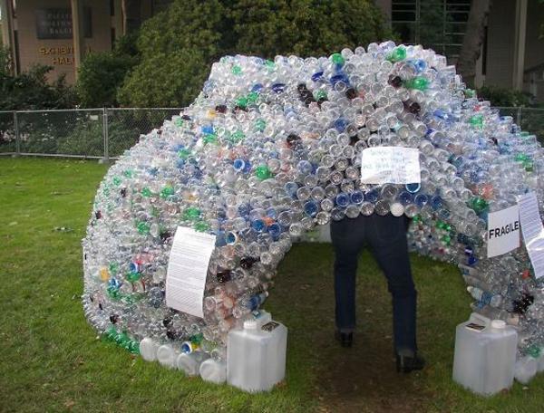 recyceln Gewächshaus selber bauen originell