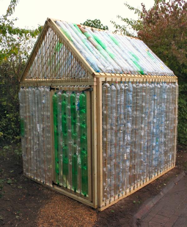 Kleines Gewächshaus selber bauen wintergarten