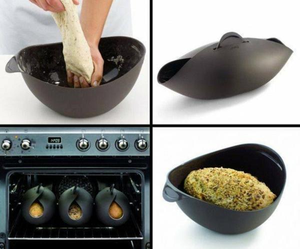 Lustige Küchenhelfer und Küchengeräte backofen