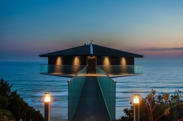 Luxus Haus australien geländer brücke glas