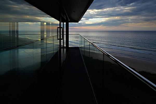 sommer residenz Haus australien glas geländer balkon