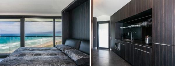 kleiderschrank holz Haus australien schlafzimmerwand bett