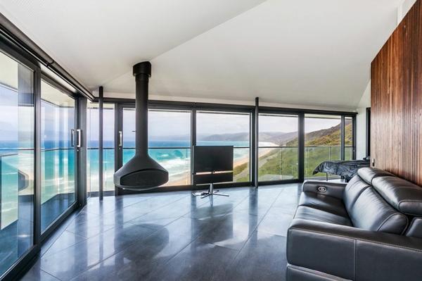 Luxus Haus australien gleittüren wohnzimmer offen
