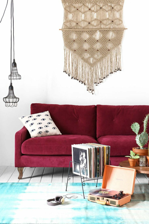 Möbel lackieren Marsala Trendfarbe 2015 bezug