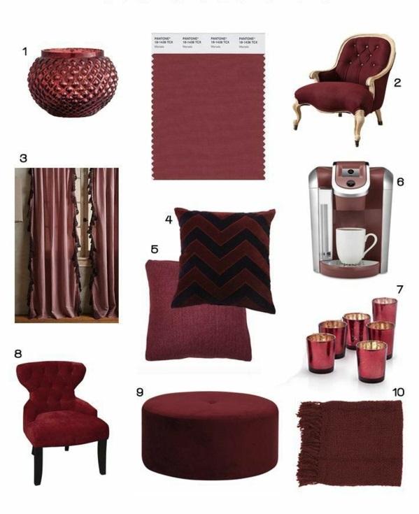 M?bel lackieren Marsala Trendfarbe 2015 mode