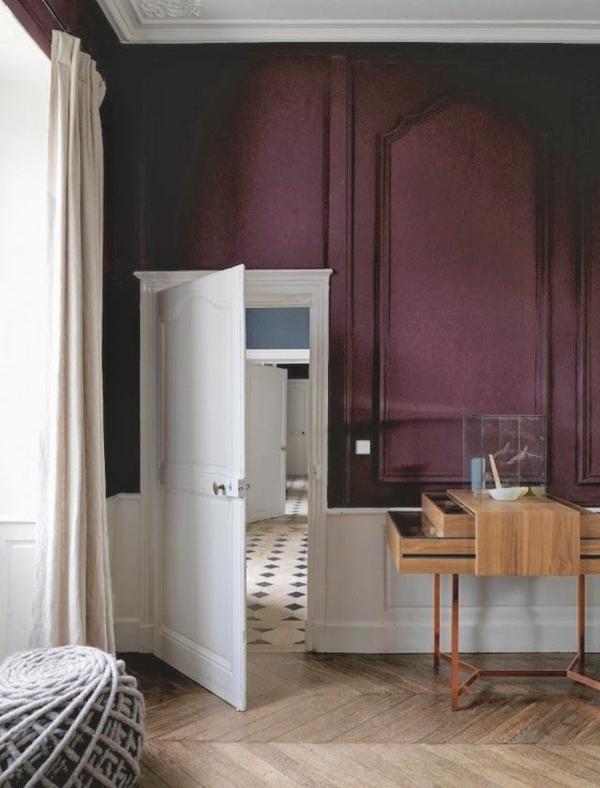 farbgestaltung Marsala Trendfarbe 2015 schreibtisch