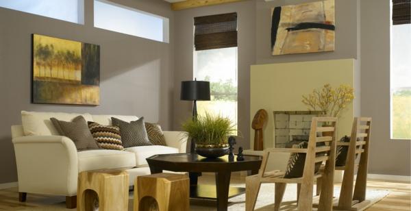 Moderne wohnzimmer farben 2016  Küche Grün Braun