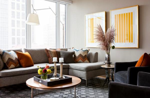 Moderne Farben Für Wohnzimmer 2015 Rund Couchtisch