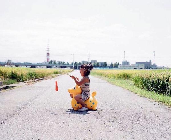 Nagano Toyokazu tochter kreative und lustige kinderbilder