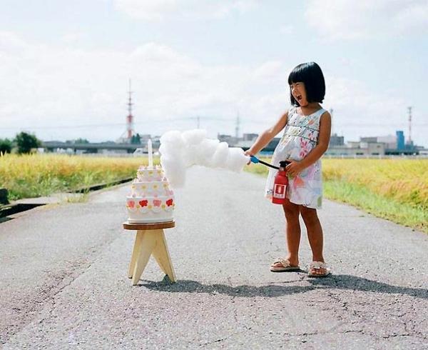 Nagano Toyokazu tochter lustige kinderbilder feuer torte