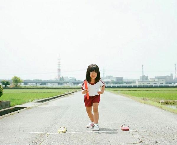Nagano Toyokazu tochter lustige kinderfotos rennen