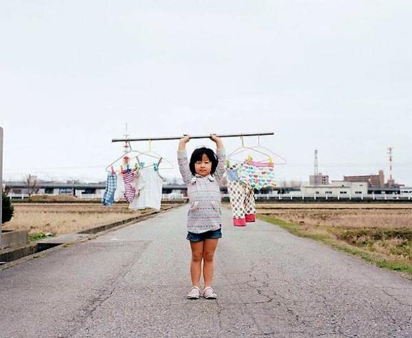 Nagano Toyokazu tochter lustige kinderfotos wäsche