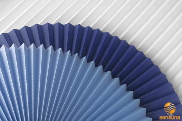 Plisee Rollos Sensuna Plissees Stoffe in blau