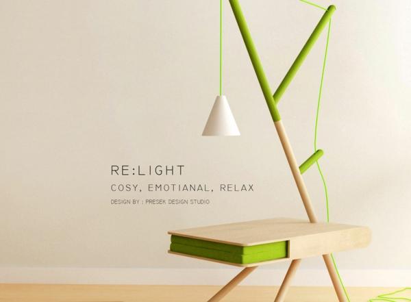 RE LIGHT beistelltisch grün Presek Design Studio