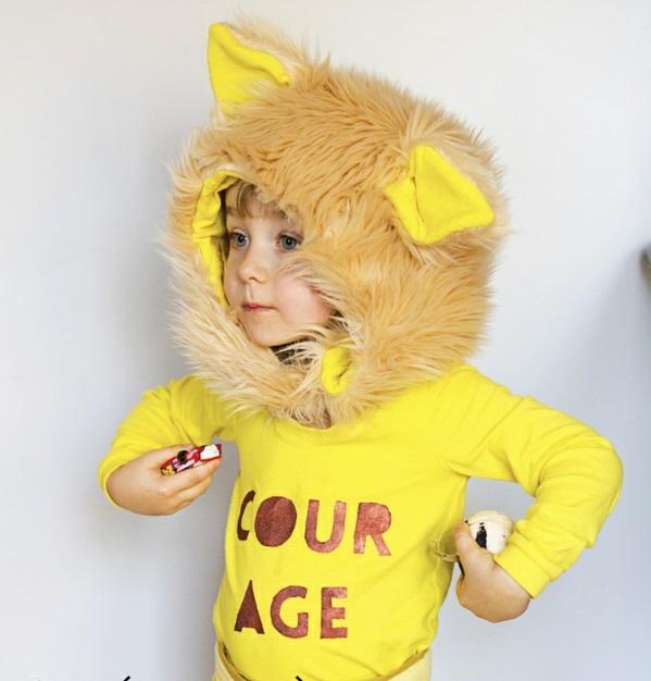 Schöne-Tiermasken-mit-Kindern-basteln-gelb