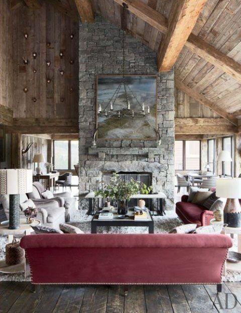 Marsala Trendfarbe inneneinrichtung wohnstil dach