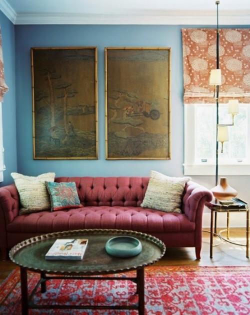 Trendfarbe Marsala inneneinrichtung wohnstil vintage