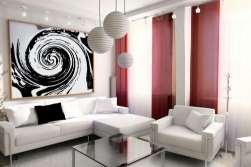 Trendfarbe Marsala inneneinrichtung wohnstil weiß