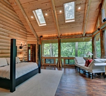 Velux-Dachfenster-schlafzimmer-Dachflächenfenster-berghütte