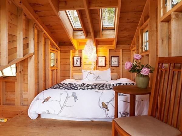 Velux Dachfenster schlafzimmer Dachflächenfenster holz einrichtung