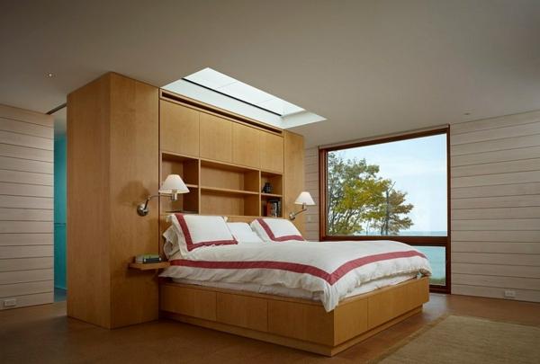 Velux schlafzimmer Dachflächenfenster trennwand kopfteil