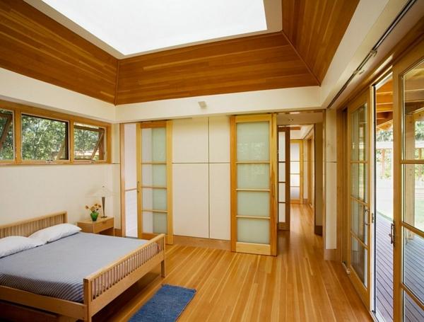 Velux Dachfenster schlafzimmer Dachflächenfenster warm holz