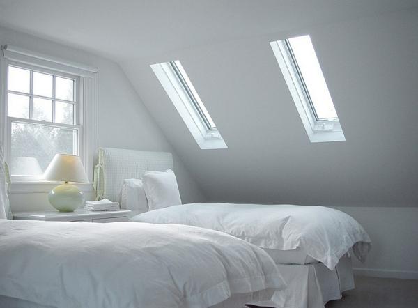 Velux Dachfenster Dachflächenfenster weiß einrichtung