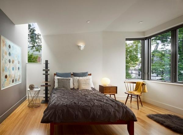 Dachfenster schlafzimmer velux fenster einbauen skandinavisch wohnen