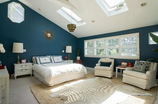 Dachfenster schlafzimmer velux fenster einbauen wandfarben